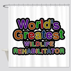 World's Greatest WILDLIFE REHABILITATOR Shower Cur