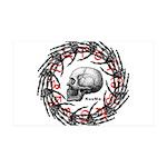 Skull and hand bones 2 38.5 x 24.5 Wall Peel
