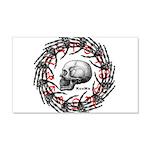 Skull and hand bones 2 22x14 Wall Peel