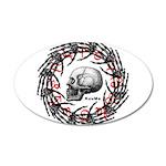 Skull and hand bones 2 38.5 x 24.5 Oval Wall Peel