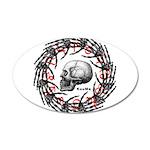 Skull and hand bones 2 22x14 Oval Wall Peel