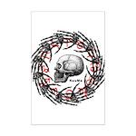 Skull and hand bones 2 Mini Poster Print
