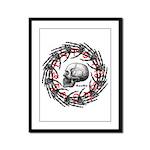 Skull and hand bones 2 Framed Panel Print