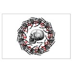 Skull and hand bones 2 Large Poster