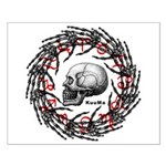 Skull and hand bones 2 Small Poster
