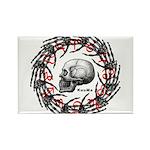 Skull and hand bones 2 Rectangle Magnet (100 pack)