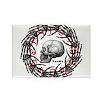 Skull and hand bones 2 Rectangle Magnet
