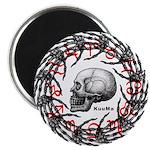Skull and hand bones 2 Magnet