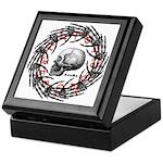 Skull and hand bones 2 Keepsake Box