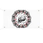 Skull and hand bones 2 Banner