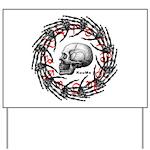 Skull and hand bones 2 Yard Sign