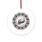 Skull and hand bones 2 Ornament (Round)