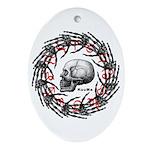 Skull and hand bones 2 Ornament (Oval)
