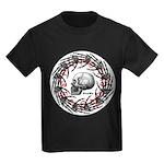 Skull and hand bones 2 Kids Dark T-Shirt