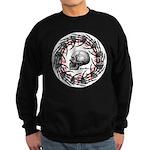Skull and hand bones 2 Sweatshirt (dark)