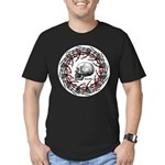 Skull and hand bones 2 Men's Fitted T-Shirt (dark)
