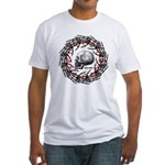 Skull and hand bones 2 Fitted T-Shirt
