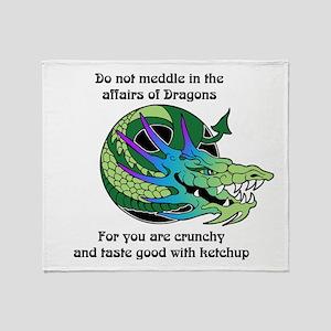 Dragon Crunchies Throw Blanket