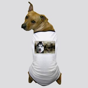 New Year - Golden Elegance - Husky Dog T-Shirt