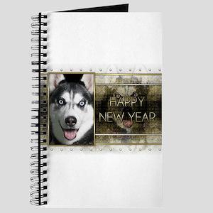 New Year - Golden Elegance - Husky Journal