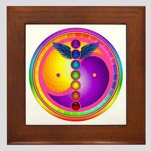 Chakra Mandala Framed Tile