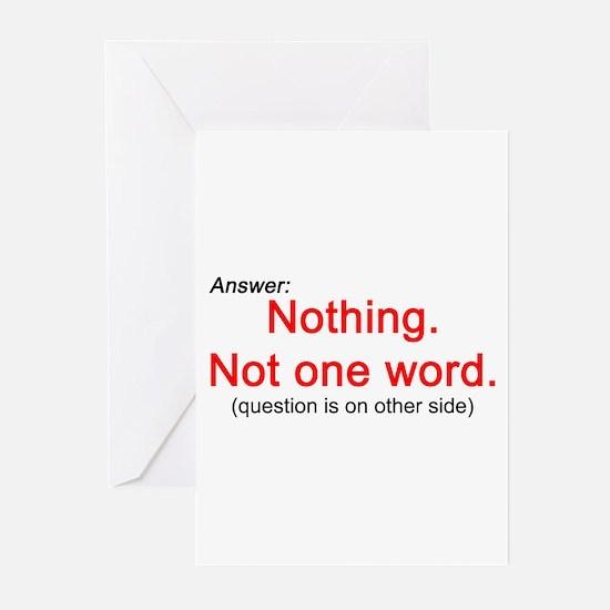 Nothing. Greeting Cards (Pk of 10)