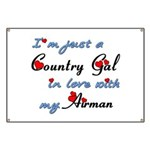 Country Gal Air Force Love Banner