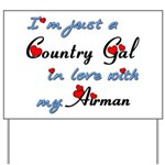 Country Gal Air Force Love Yard Sign