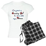 Country Gal Air Force Love Women's Light Pajamas