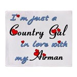 Country Gal Air Force Love Throw Blanket