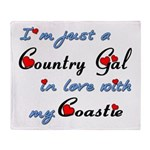 Country Gal Coastie Love Throw Blanket