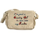 Country Gal Seabee Love Messenger Bag