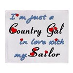 Country Gal Sailor Love Throw Blanket