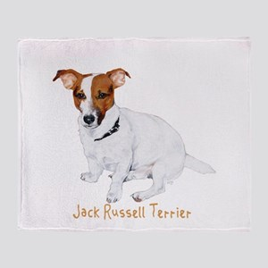 Jack Russell Terrier Painting Throw Blanket