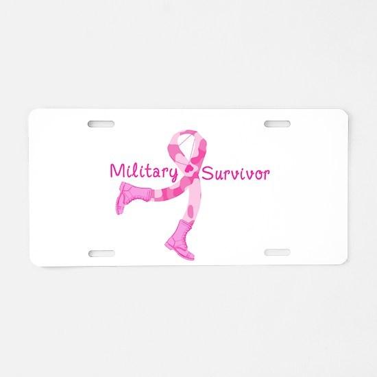 Unique Breast cancer women Aluminum License Plate