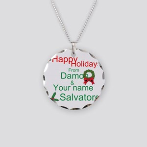 Happy Holidays, Damon & You Necklace Circle Charm