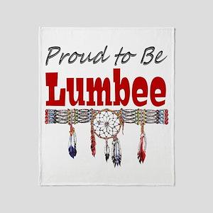 Proud to be Lumbee Throw Blanket