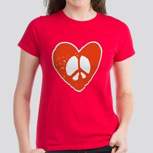 Peace & Love Women's Dark T-Shirt