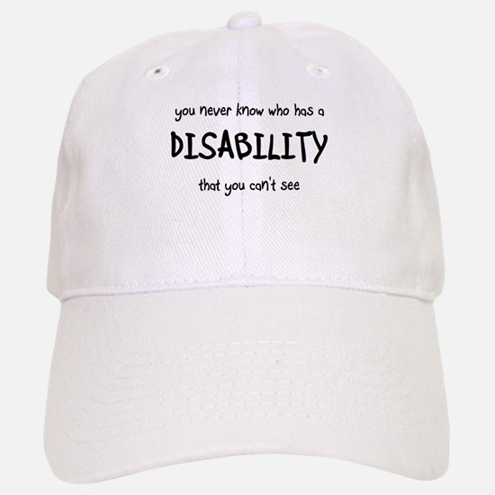 HIdden Disability - Baseball Baseball Cap