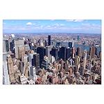 Manhattan New York City Skyline Poster