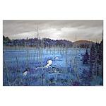 Adirondacks in Blue Poster