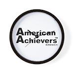 American Achievers TM Black Logo Wall Clock