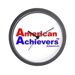 American Achievers TM R-B Logo Wall Clock