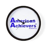 American Achievers TM Blue Logo Wall Clock