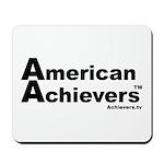 American Achievers TM Black Logo Mousepad