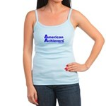American Achievers TM Blue Logo Jr. Spaghetti Tank