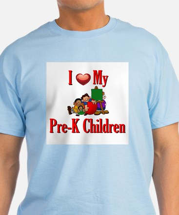 I Love My Pre-K Kids T-Shirt