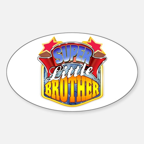 Super Little Brother Sticker (Oval)