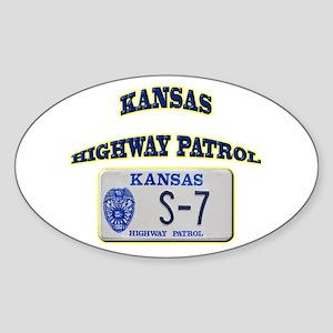 Kansas Highway Patrol Sticker (Oval)