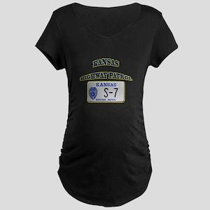 Kansas Highway Patrol Maternity Dark T-Shirt